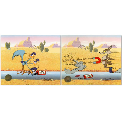 Animation Cel; Road Runner & Coyote: Acme Birdseed
