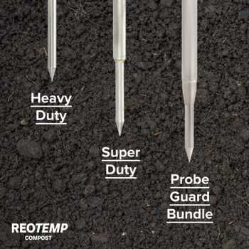 Heavy Duty Compost Thermometer with Probe Guard Bundle