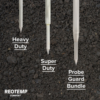 Heavy Duty Digital Compost Thermometer with Probe Guard Bundle