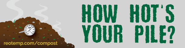 """How Hot's Your Pile?"" Compost Bumper Sticker"