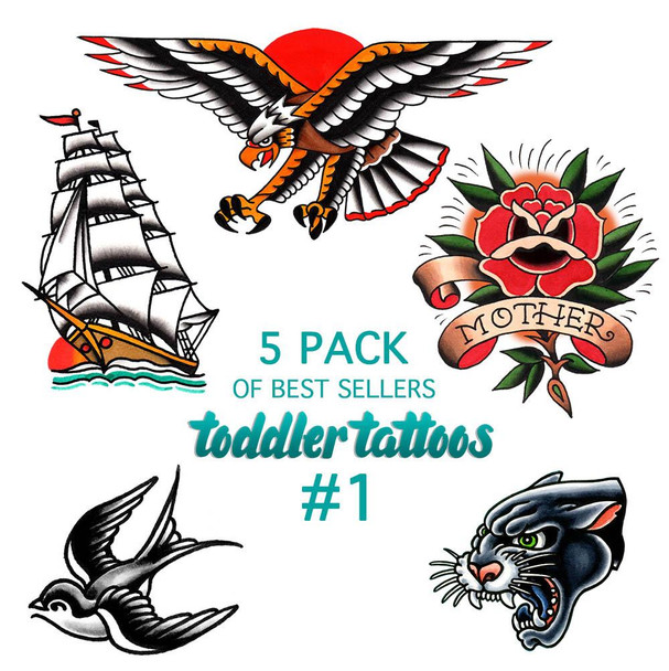 Toddler Tattoos - 5 Pack Of Best Sellers #1
