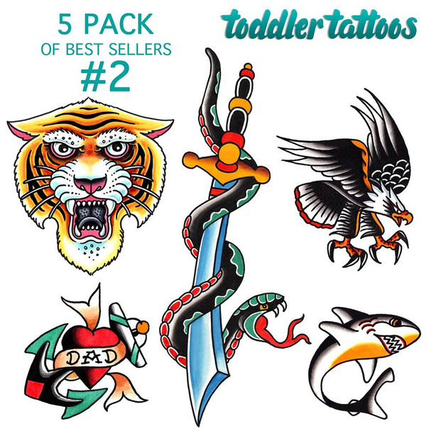 Toddler Tattoos - 5 Pack Of Best Sellers #2