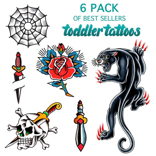 Toddler Tattoos - 6 Pack Of Best Sellers #3