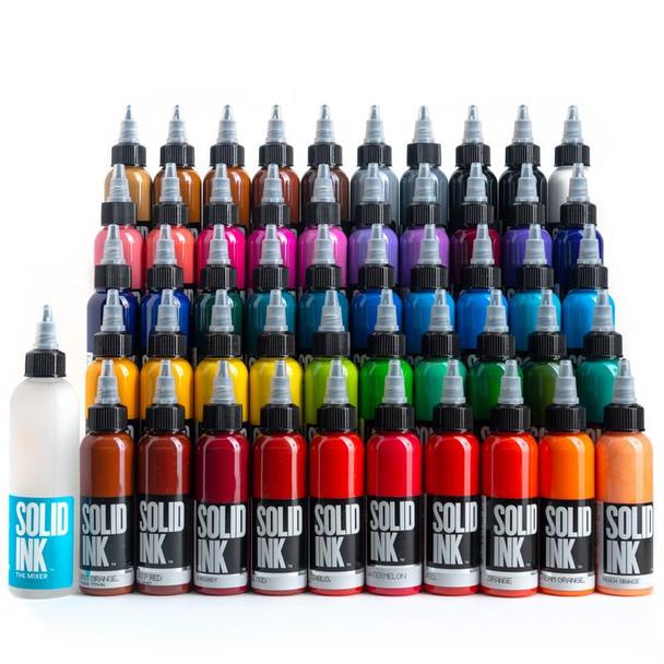 50 COLORS SET - 1oz - Solid Ink