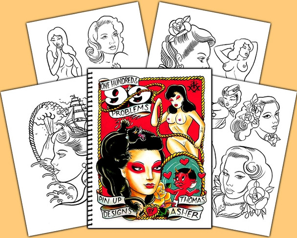 Thomas Asher - One Hundred & 99 Problems, Pin Up Designs
