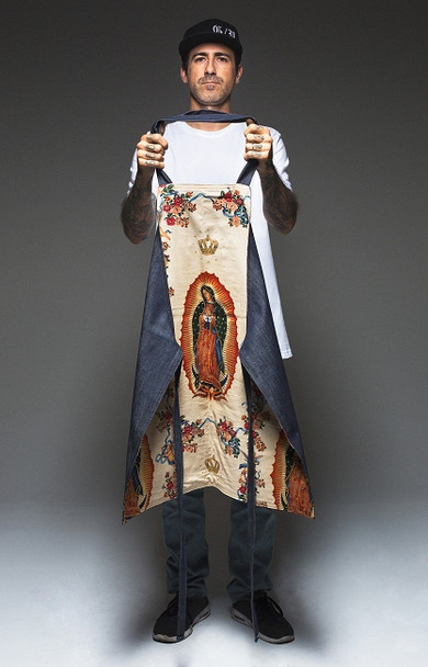 Hand Made Tattoo Apron - Guadalupe Liner in Off-White