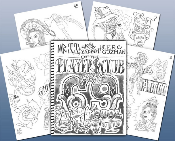 The Players Club Sketchbook ~ 69 pages of cool shit