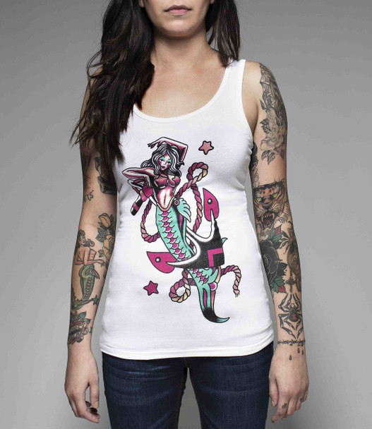 Saltwater Tattoo Supply Woman's Tee - Mermaid