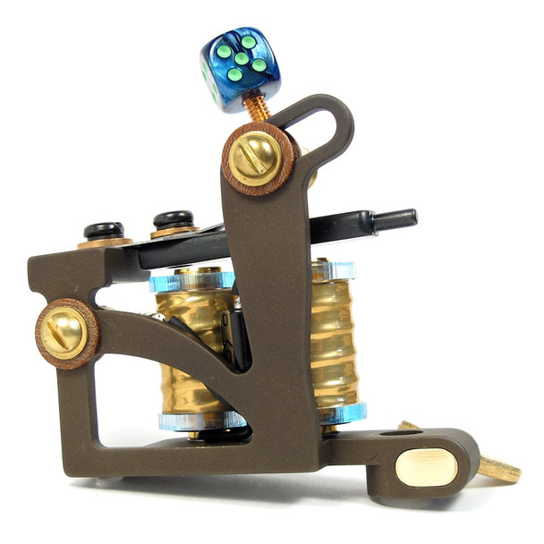 Ben Mack Tattoo Machine - One-Off Liner - 7 wrap Gold Coils