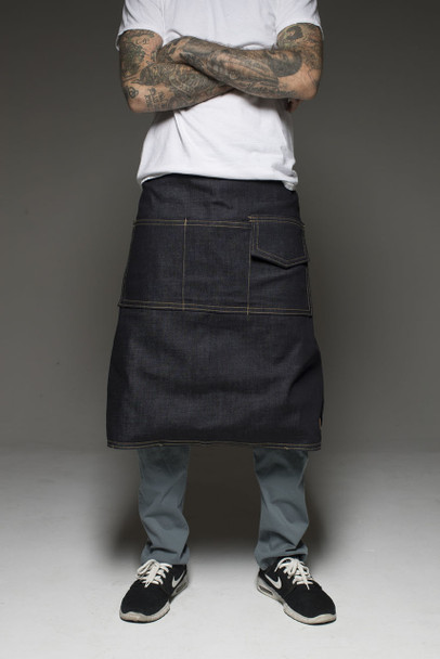 Hand Made Tattoo Lap Apron - Black Liner (Extra Long)