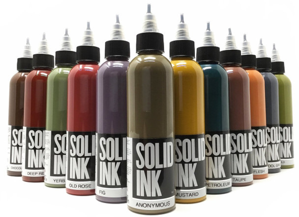 Solid Ink Opaque Set - 1oz ( 12 colors / 1oz )