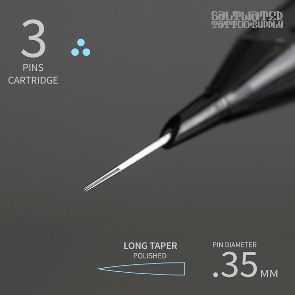 3 Cartridge Tips - Round Liners