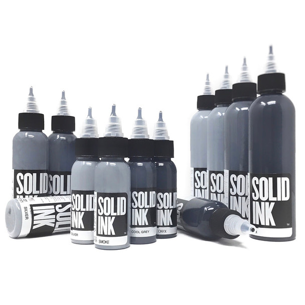 Solid Ink Opaque Grey Set ( 1oz / 2oz / 4oz )