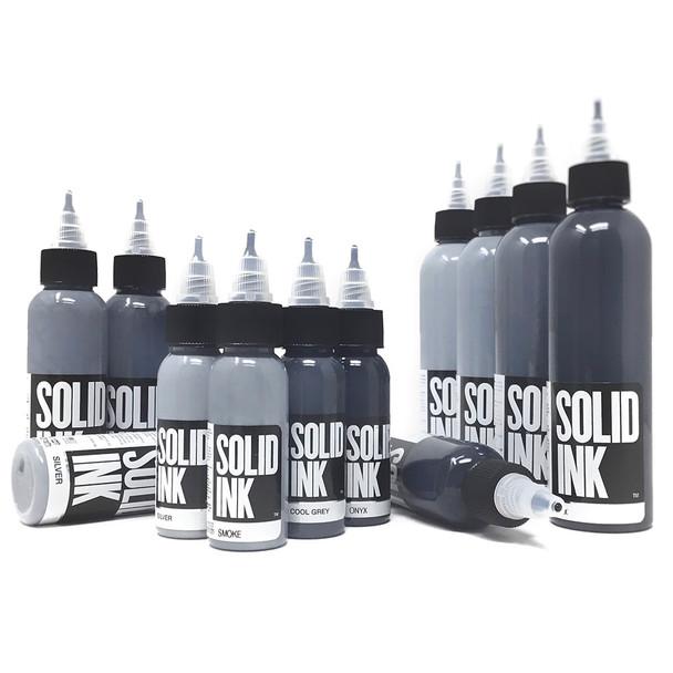 Solid Ink Opaque Grey Set ( 1oz / 2oz / 4oz )