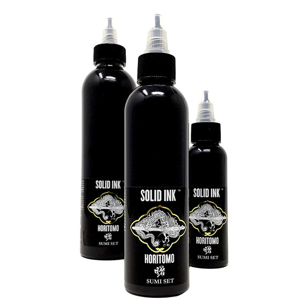 Solid Ink Horitomo Sumi Black ( 2oz / 4oz / 8oz  )
