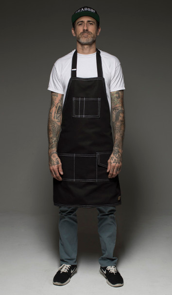 Hand Made Tattoo Apron - Black Denim with Sarape Liner