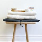 Organic Cotton Knitted Bath Towel - White