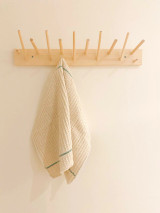 Large Cotton Cleaning Cloth - Natural with Green Accent