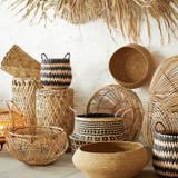 Round Rattan Basket - Low