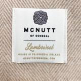 McNutt of Donegal Merino Lambswool Supersoft Blanket - Basswood Herringbone