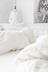 MagicLinen Queen Duvet and Cover Set - White