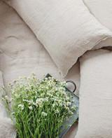 MagicLinen Pom Pom Trim Linen Pillowcase - Natural