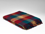 McNutt of Donegal Pure Wool Blanket - Pine & Redcurrant