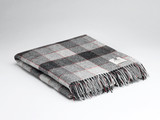 McNutt of Donegal Pure Wool Blanket - Red & Grey Block