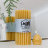 Heritage Beeswax Candle - Fluted Pillar