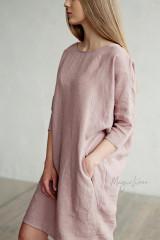 Aruba Linen Dress - Woodrose