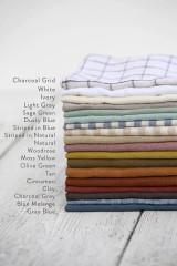 MagicLinen Pom Pom Trim Linen Pillowcase - Charcoal Grey