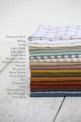 MagicLinen Pom Pom Trim Linen Pillowcase - White