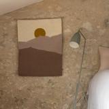 Landscape Wall Hanging 'Morning' - Ash Grey