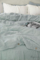 MagicLinen Twin Duvet and Cover Set - Dusty Blue
