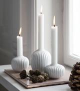 Kähler Design Hammershøi Candle holder Ø7.5 cm - White