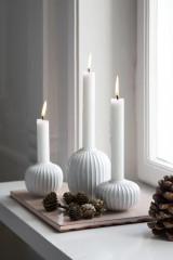 Kähler Design Hammershøi Candle holder H10 cm - White