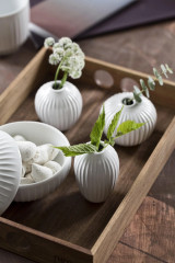 Kähler Design Hammershøi Vase Miniature White - 3 pcs