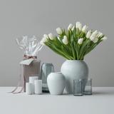 Lyngby Rhombe Porcelain Vase H25 cm - White