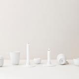 Lyngby Rhombe Porcelain Candle Holder ⌀10.5 cm - White