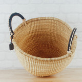 Elephant Grass Large Storage Basket with Two Handles #1