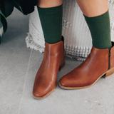 Lamington Crew Length Merino Wool Socks Woman - Caper