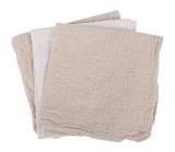 Multi-purpose Cleaning Cloth - 2 x Natural and 1 x White