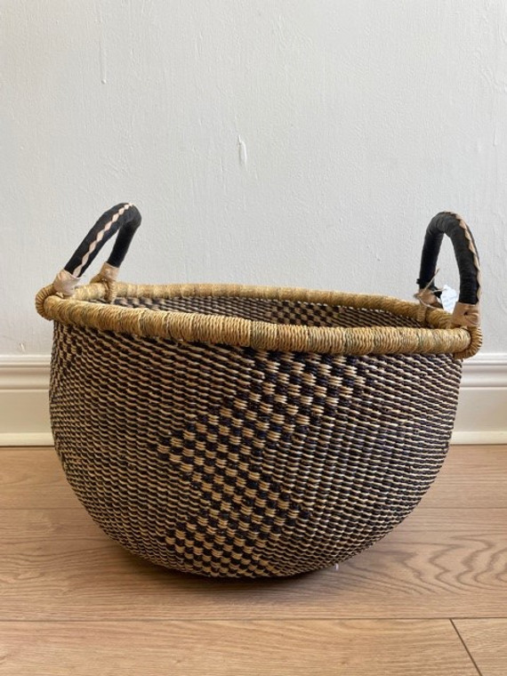 Elephant Grass Large Storage Basket with Two handles #2