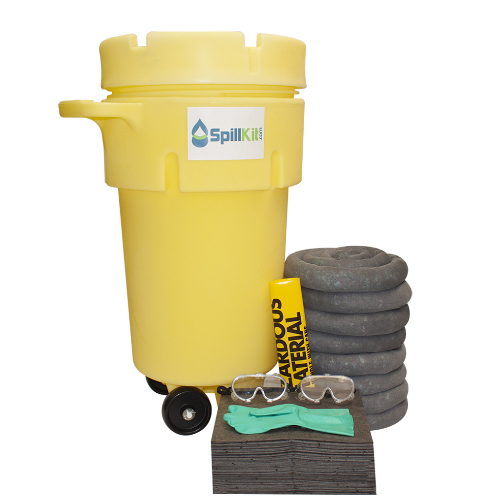 50 Gallon Wheeled Overpack Salvage Drum Spill Kit - Universal