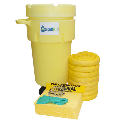50 Gallon Wheeled Overpack Salvage Drum Spill Kit - HazMat