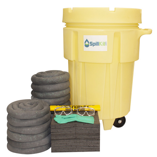 95 Gallon Wheeled Overpack Salvage Drum Spill Kit - Universal