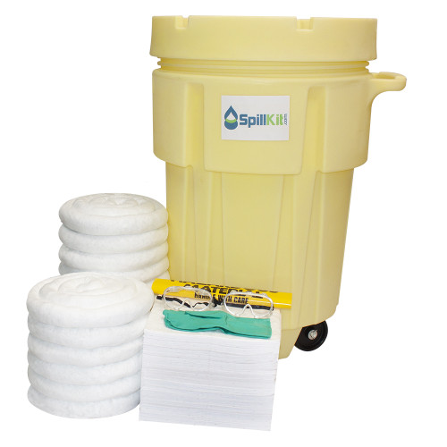 95 Gallon Wheeled Overpack Salvage Drum Spill Kit