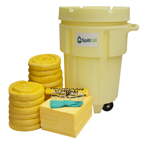 95 Gallon Wheeled Overpack Salvage Drum Spill Kit - HazMat