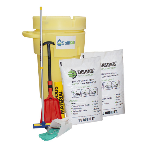 ENSORB Granular 50-Gallon Wheeled Salvage Drum Spill Kit