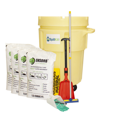 ENSORB Granular 95-Gallon Wheeled Salvage Drum Spill Kit